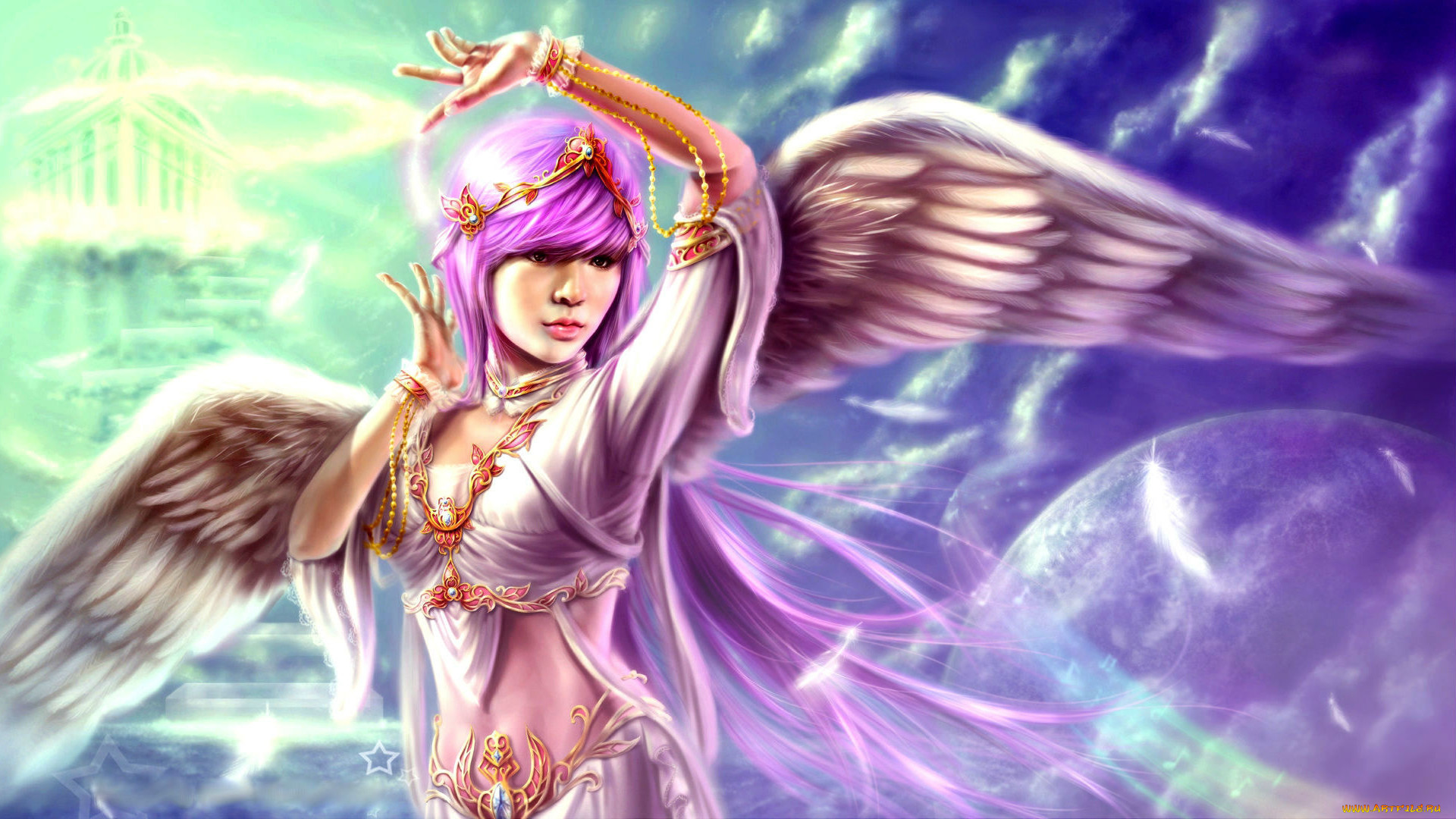 Красивые картинки фэнтези девушек ангелов
